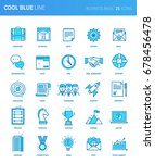 modern thin line icons set of... | Shutterstock .eps vector #678456478