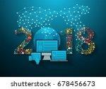 2018 new year business... | Shutterstock .eps vector #678456673