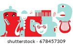 abstract artwork for classical... | Shutterstock .eps vector #678457309