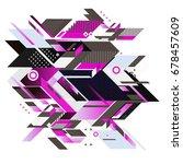 trendy geometrical vector... | Shutterstock .eps vector #678457609