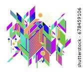 trendy geometrical vector... | Shutterstock .eps vector #678459106