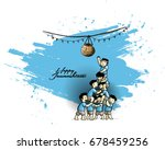 illustration of boy with... | Shutterstock .eps vector #678459256