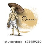 young man in traditional dress... | Shutterstock .eps vector #678459280
