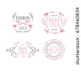 pretty logotypes in boho style... | Shutterstock .eps vector #678460834