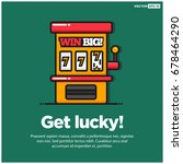 get lucky with slot machine... | Shutterstock .eps vector #678464290