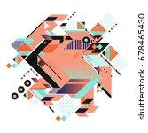 trendy geometrical vector... | Shutterstock .eps vector #678465430