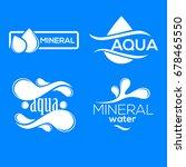 blue logos set. label for... | Shutterstock .eps vector #678465550