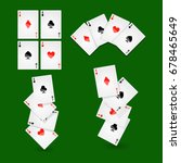 poker playing cards for casino... | Shutterstock .eps vector #678465649