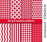 set of eight of seamless... | Shutterstock .eps vector #678468130