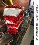 A Bite Of Red Velvet Cake With...