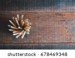 concept of education pencil on... | Shutterstock . vector #678469348