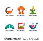 restaurant logo collection food ... | Shutterstock .eps vector #678471268