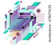 trendy geometrical vector... | Shutterstock .eps vector #678474133