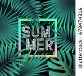 summer tropical vector design... | Shutterstock .eps vector #678474316