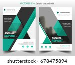 green flyer cover business...   Shutterstock .eps vector #678475894
