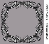 vector black and white vintage... | Shutterstock .eps vector #678476530