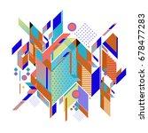 trendy geometrical vector... | Shutterstock .eps vector #678477283