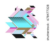 trendy geometrical vector... | Shutterstock .eps vector #678477328
