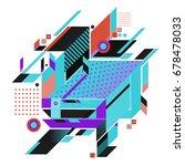 trendy geometrical vector... | Shutterstock .eps vector #678478033