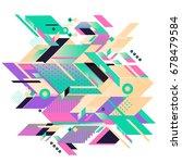 trendy geometrical vector... | Shutterstock .eps vector #678479584