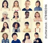 people set of diversity kids... | Shutterstock . vector #678480346