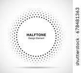halftone vector circle frame... | Shutterstock .eps vector #678481363