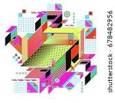trendy geometrical vector... | Shutterstock .eps vector #678482956