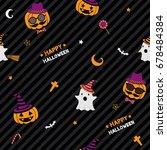 happy halloween party design...   Shutterstock .eps vector #678484384