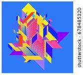 trendy geometrical vector... | Shutterstock .eps vector #678485320