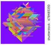 trendy geometrical vector... | Shutterstock .eps vector #678485350
