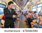 asian businessman using the...   Shutterstock . vector #678486580