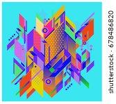 trendy geometrical vector... | Shutterstock .eps vector #678486820