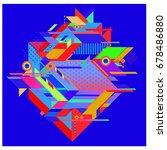 trendy geometrical vector... | Shutterstock .eps vector #678486880
