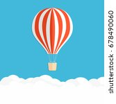 hot air balloon in the sky. red ... | Shutterstock .eps vector #678490060