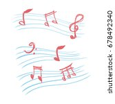 doodle music note vector   Shutterstock .eps vector #678492340