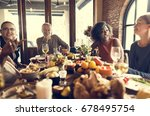 thanksgiving celebration... | Shutterstock . vector #678495754