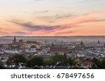 krakow panorama from krakus... | Shutterstock . vector #678497656