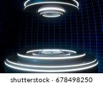 3d rendering. a modern stage... | Shutterstock . vector #678498250