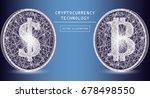 bitcoin digital currency vector ... | Shutterstock .eps vector #678498550