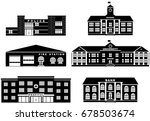 set of silhouettes different... | Shutterstock .eps vector #678503674