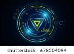 futuristic hud digital hi tech... | Shutterstock .eps vector #678504094