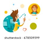 illustration young people boy...   Shutterstock .eps vector #678509599