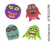 a set of monsters. happy... | Shutterstock .eps vector #678510298