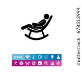 man in rocking chair icon | Shutterstock .eps vector #678513994