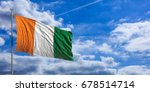 ivory coast waving flag on blue ... | Shutterstock . vector #678514714