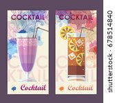 flat cocktail design on... | Shutterstock .eps vector #678514840