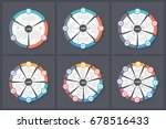 circle infographic templates... | Shutterstock .eps vector #678516433