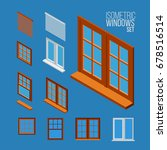 closed windows isometric... | Shutterstock .eps vector #678516514