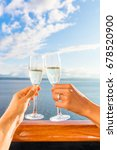 luxury honeymoon cruise couple... | Shutterstock . vector #678520900