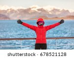alaska glacier bay cruise... | Shutterstock . vector #678521128